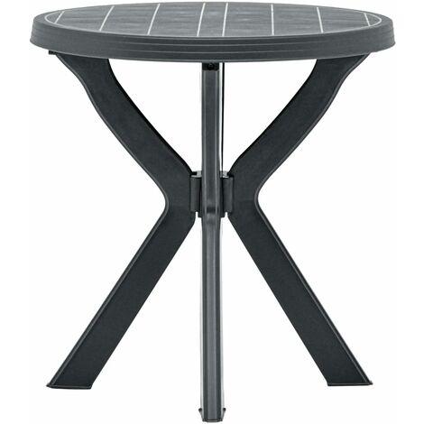 Bistro Table Anthracite ?70 cm Plastic - Anthracite