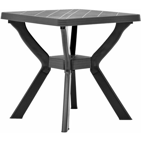Bistro Table Anthracite 70x70x72 cm Plastic