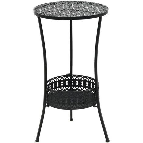 "main image of ""Bistro Table Black 40x70 cm Metal"""
