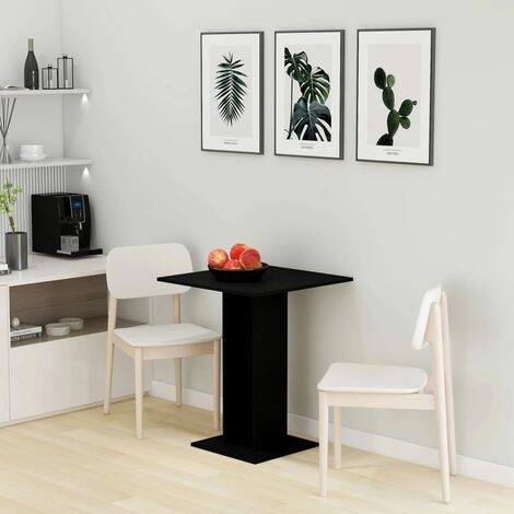 Bistro Table Black 60x60x75 cm Chipboard - Black