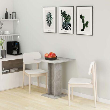 Bistro Table Concrete Grey 60x60x75 cm Chipboard