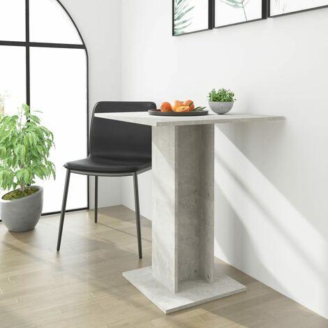 Bistro Table Concrete Grey 60x60x75 cm Chipboard - Grey