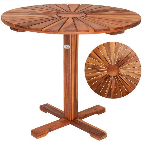 Bistro Table Garden Table Round Sunrise Pre-Oiled Acacia Wood ø70,5 cm