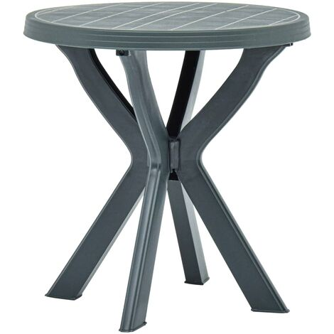 Bistro Table Green 70 cm Plastic
