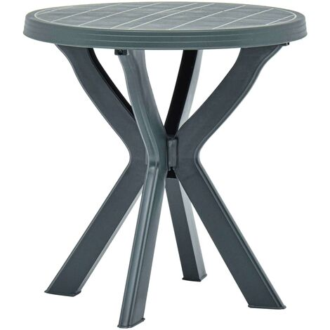 Bistro Table Green Ø70 cm Plastic