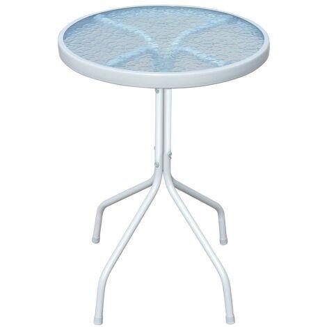 Bistro Table Grey 50x71 cm Steel - Grey