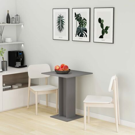 Bistro Table Grey 60x60x75 cm Chipboard