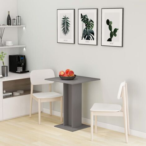 Bistro Table Grey 60x60x75 cm Chipboard - Grey