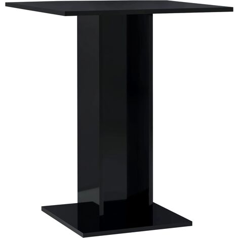 Bistro Table High Gloss Black 60x60x75 cm Chipboard