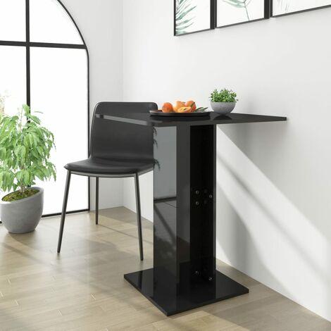 Bistro Table High Gloss Black 60x60x75 cm Chipboard - Black