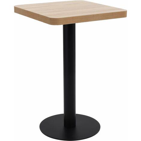Bistro Table Light Brown 50x50 cm MDF - Brown
