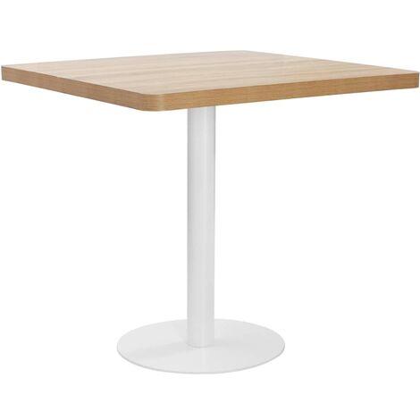 Bistro Table Light Brown 80X80 cm MDF