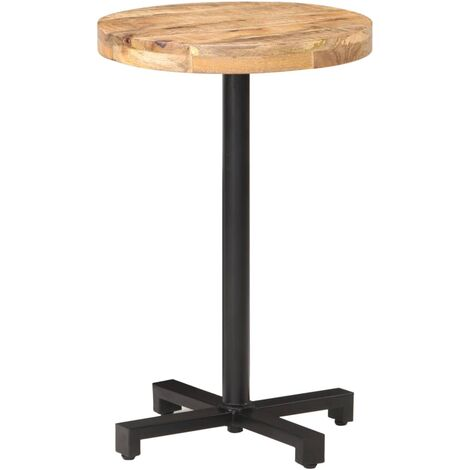 Bistro Table Round Ø50x75 cm Rough Mango Wood