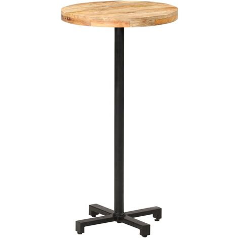 Bistro Table Round Ø60x110 cm Rough Mango Wood
