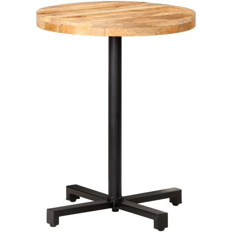 Bistro Table Round Ø60x75 cm Rough Mango Wood