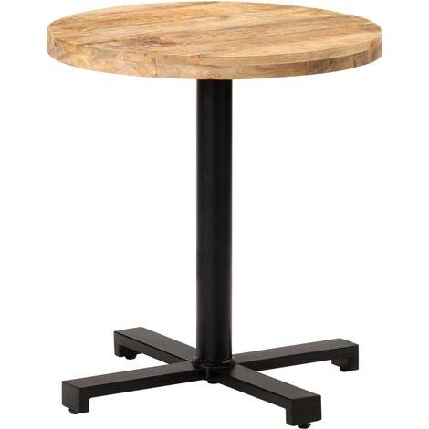 Bistro Table Round Ø70x75 cm Rough Mango Wood