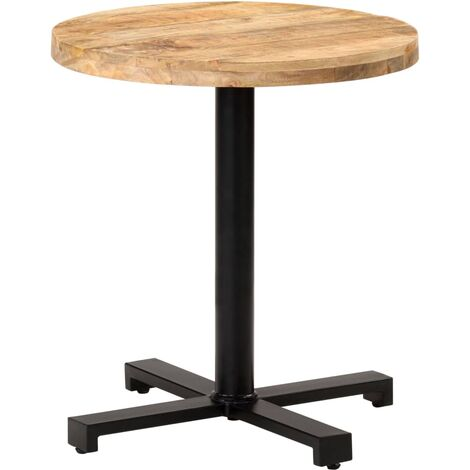 Bistro Table Round Ø70x75 cm Rough Mango Wood