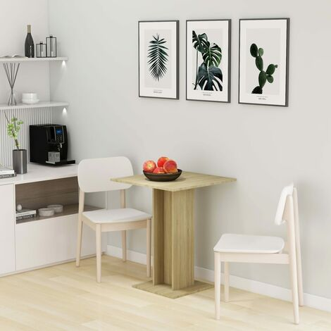 Bistro Table Sonoma Oak 60x60x75 cm Chipboard