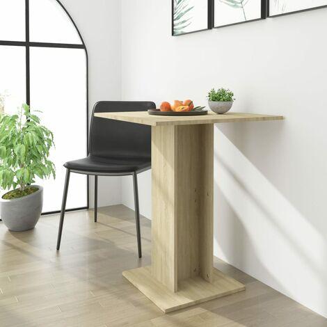 Bistro Table Sonoma Oak 60x60x75 cm Chipboard - Brown