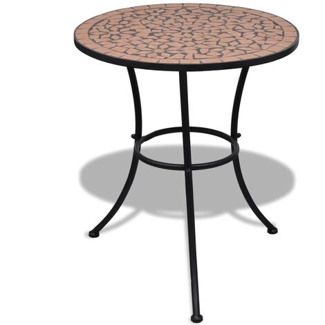 Bistro Table Terracotta 60 cm Mosaic