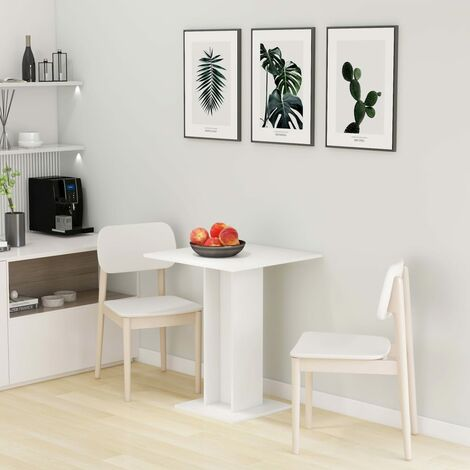 Bistro Table White 60x60x75 cm Chipboard - White
