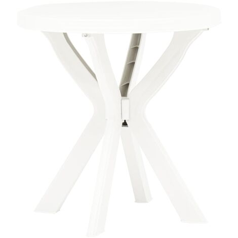 Bistro Table White Ø70 cm Plastic