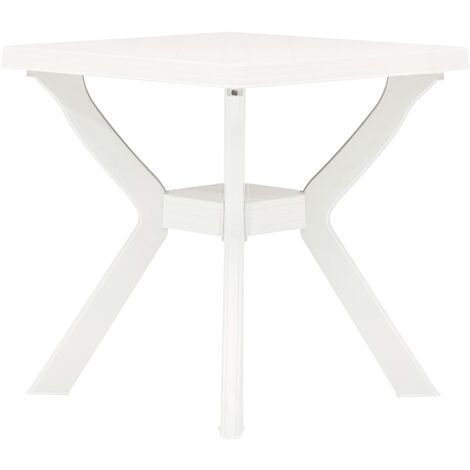 Bistro Table White 70x70x72 cm Plastic