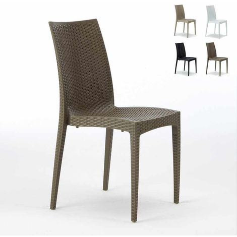BISTROT Stackable Rattan Garden Indoor Chair by Grand Soleil