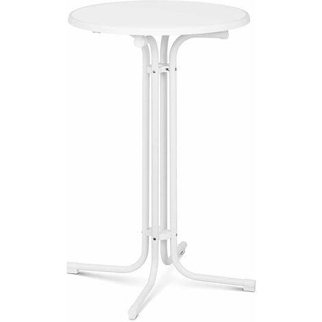Stehtisch klappbar Bistrotisch Bistro Tisch Bartisch Gastro rund Ø 70 cm weiß