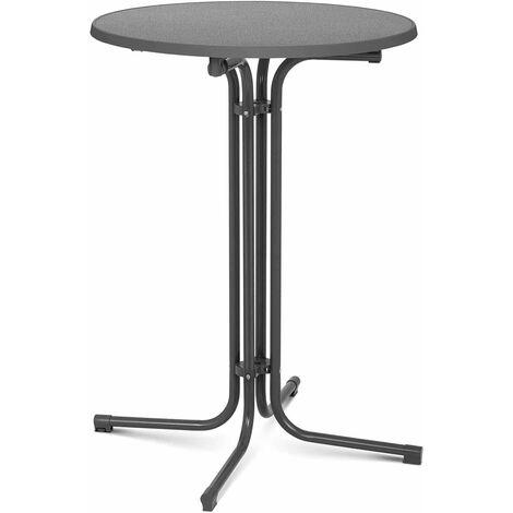 Stehtisch klappbar Bistrotisch Bistro Tisch Bartisch Gastro runf Ø 80 cm grau