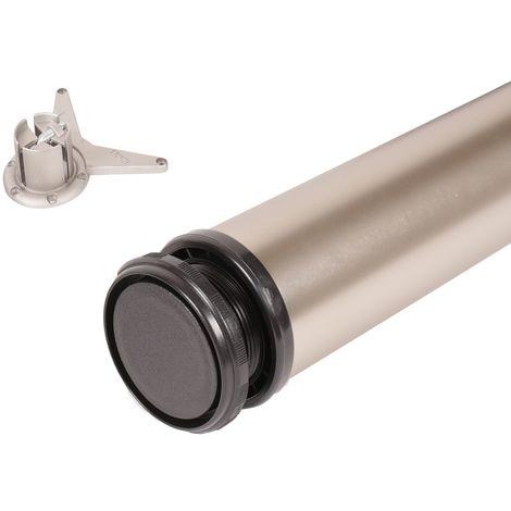 Bistrotischfuss Nickel matt Tischbein ø 60mm Tischstempel 1100mm höhenverstellbar