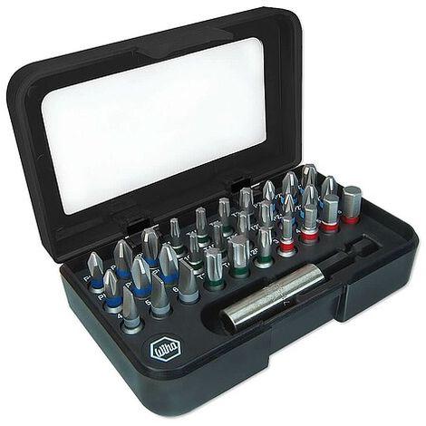 Bit-Sortiment von WIHA 31-teilig in Kunststoffbox mit Gürtelclip - Industriequalität - 41130