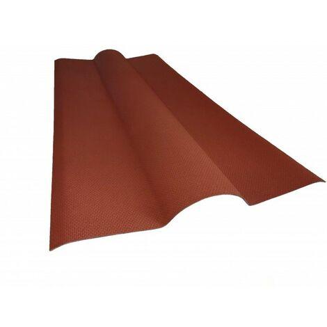 Bitumen-Firsthaube für Wellplattendach L 1 m / B 44 cm