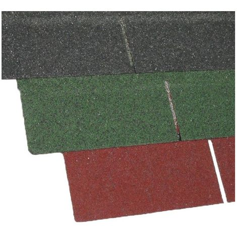 Bitumenschindel selbstklebend (Set für 2 m²) - 14 Streifen 100 x 33 cm
