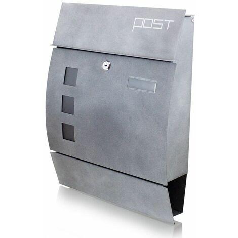 Bituxx Design Briefkasten 16412 Wandbriefkasten Postkasten Mailbox Beton Optik