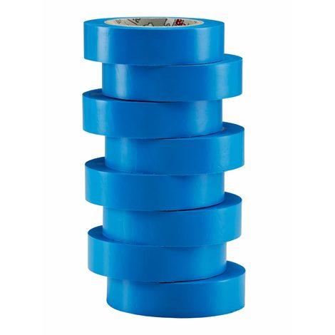 bizline 350014 | ruban d'isolation et de repérage électrique 15 mm x 10 m x 0.15 mm bleu (x 8)