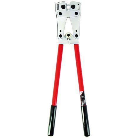 bizline 700012 | pince à sertir les cosses et manchons de puissance en cuivre de 6 à 50 mm²
