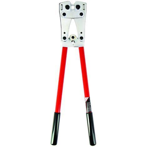 bizline 700013 | pince à sertir les cosses et manchons de puissance en cuivre de 6 à 120 mm²