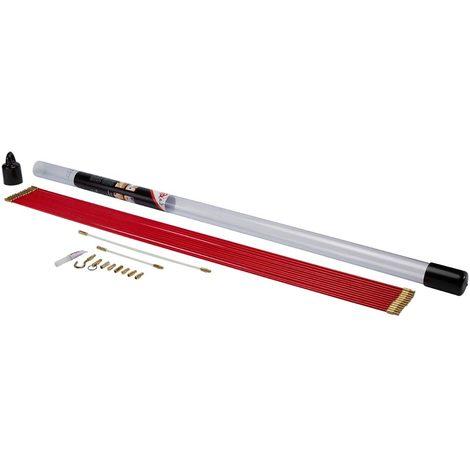 bizline 700130 | kit de 12 baguettes tire-fils 1 m Ø 5 mm rouges