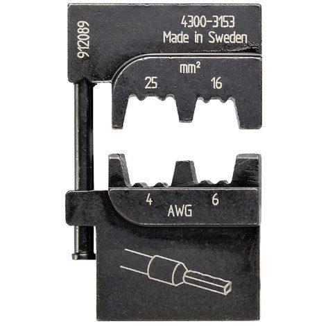 bizline 700262 | matrice de sertissage pour embouts de câblage isolés et non isolés 16-25 mm²