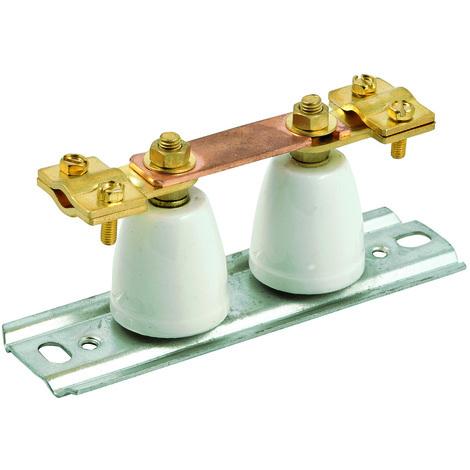 bizline 710268 | barrette de coupure haute avec isolant porcelaine platine m�tallique 45 mm�