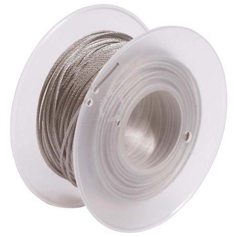bizline 710353   bobine de câblette acier 2.5 mm x 150 m