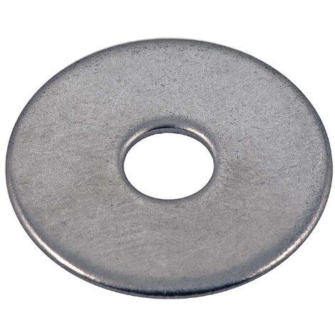 "main image of ""bizline 770245 | rondelle plate extra large inox m6 (x 100)"""