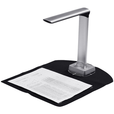 """main image of """"BK30 Document Camera 5 Mega-pixel High Definition Portable Scanner Capture Size A4 Scanners for File Card Passport Recognition Support 7 Languages German/ Russian/ French/ Japanese/ Spanish/ Italian/ English,model:Black"""""""
