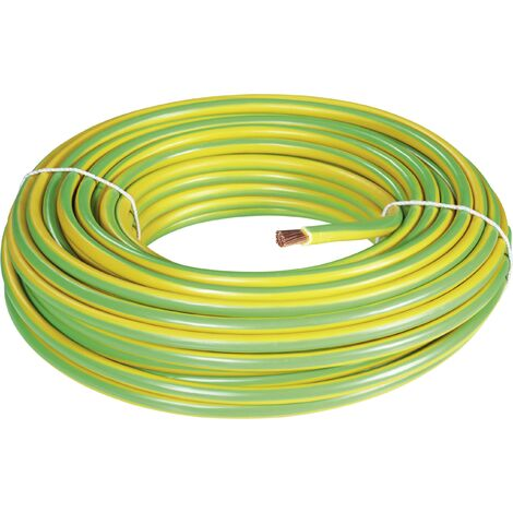 """main image of """"BKL Electronic 1502034/25 Câble de mise à la terre H07V-K 16 mm² vert, jaune 25 m R17509"""""""