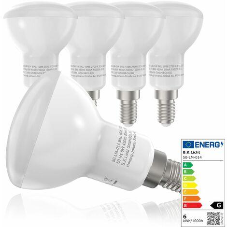 B.K.Licht Bombillas LED E27 I Ecológico I 9W equivalente a 75W I Pack de 5 I Luz Blanca natural 2700K 806LM I 230V