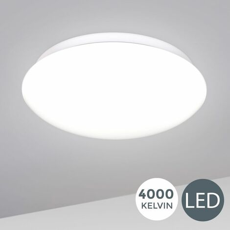 B.K.Licht I 12W LED Plafón I Lámpara de techo LED, Iluminación para interiores y oficina, Luz blanca neutra 4000K 1200lm