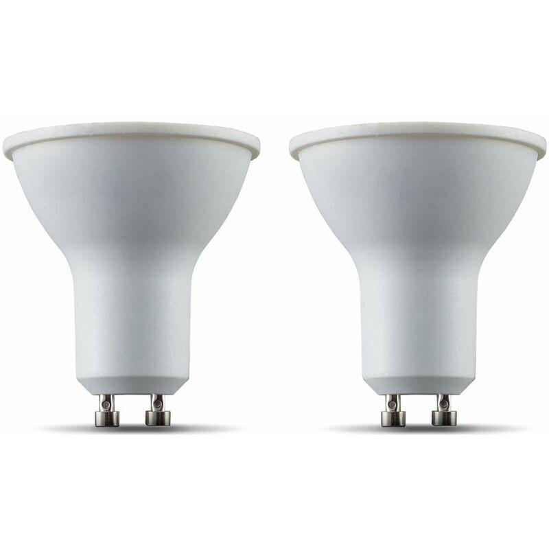B.K.Licht I Juego de 2 LED GU10 Wi-Fi Lamp I 5.5 Watt I 350 Lumen I 2.700K Blanco cálido I Regulable I Aplicación Control de voz Alexa Google Home I