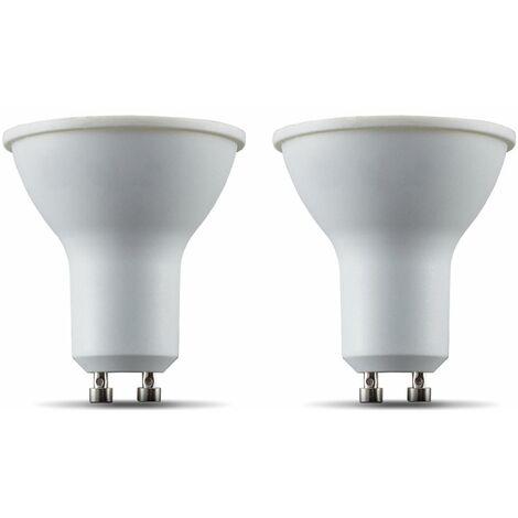 B.K.Licht I Juego de 2 LED GU10 Wi-Fi Lamp I 5.5 Watt I 350 Lumen I 2.700K Blanco cálido I Regulable I Aplicación Control de voz Alexa Google Home I iOS y Android I Bombilla inteligente