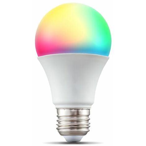 B.K.Licht I LED E27 Wi-Fi Lamp I 9 vatios I 806 Lumen I RGB I CCT I Dimmable I Aplicación Control de voz Alexa Google Home I iOS y Android I Bombilla WLAN I Bombilla inteligente